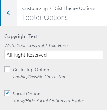 footer options gist