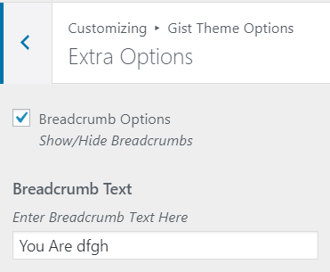 extra options gist